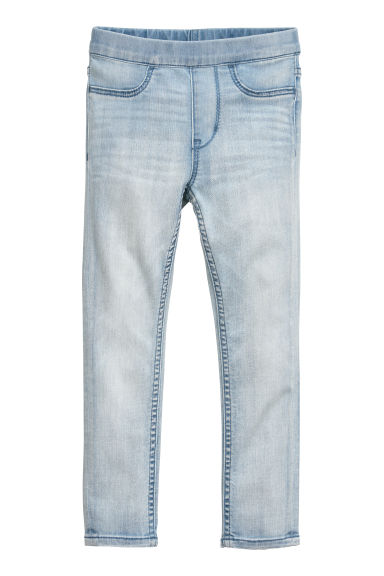 Denim leggings - Light denim blue -  | H&M