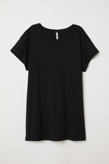 Lang T-shirt - Zwart - DAMES | H&M BE