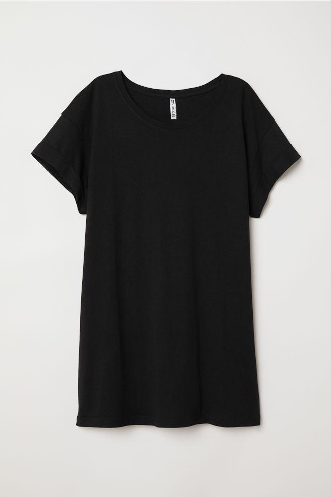 3f9b2e6a4ee T-shirt long - Noir - FEMME