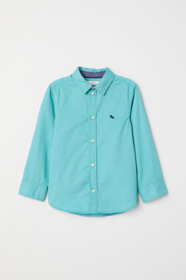 Cotton shirt - Dusky green - Kids | H&M