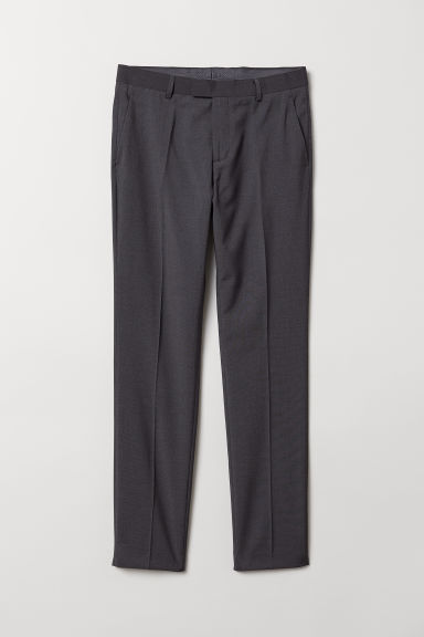 Suit trousers Slim fit - Dark grey marl - Men | H&M