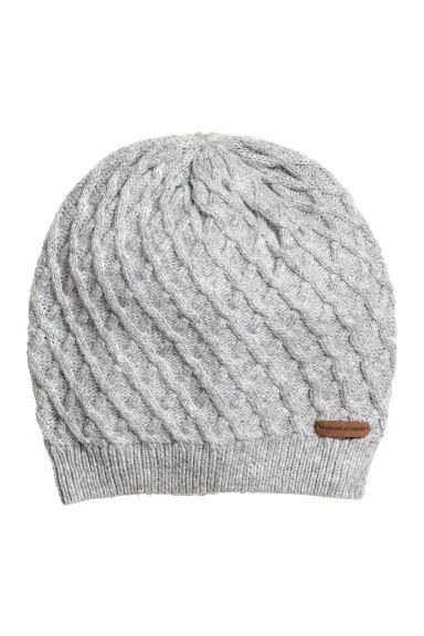Textured-knit hat - Grey - Kids | H&M GB