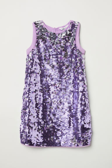 Sequined dress - Purple - Kids | H&M