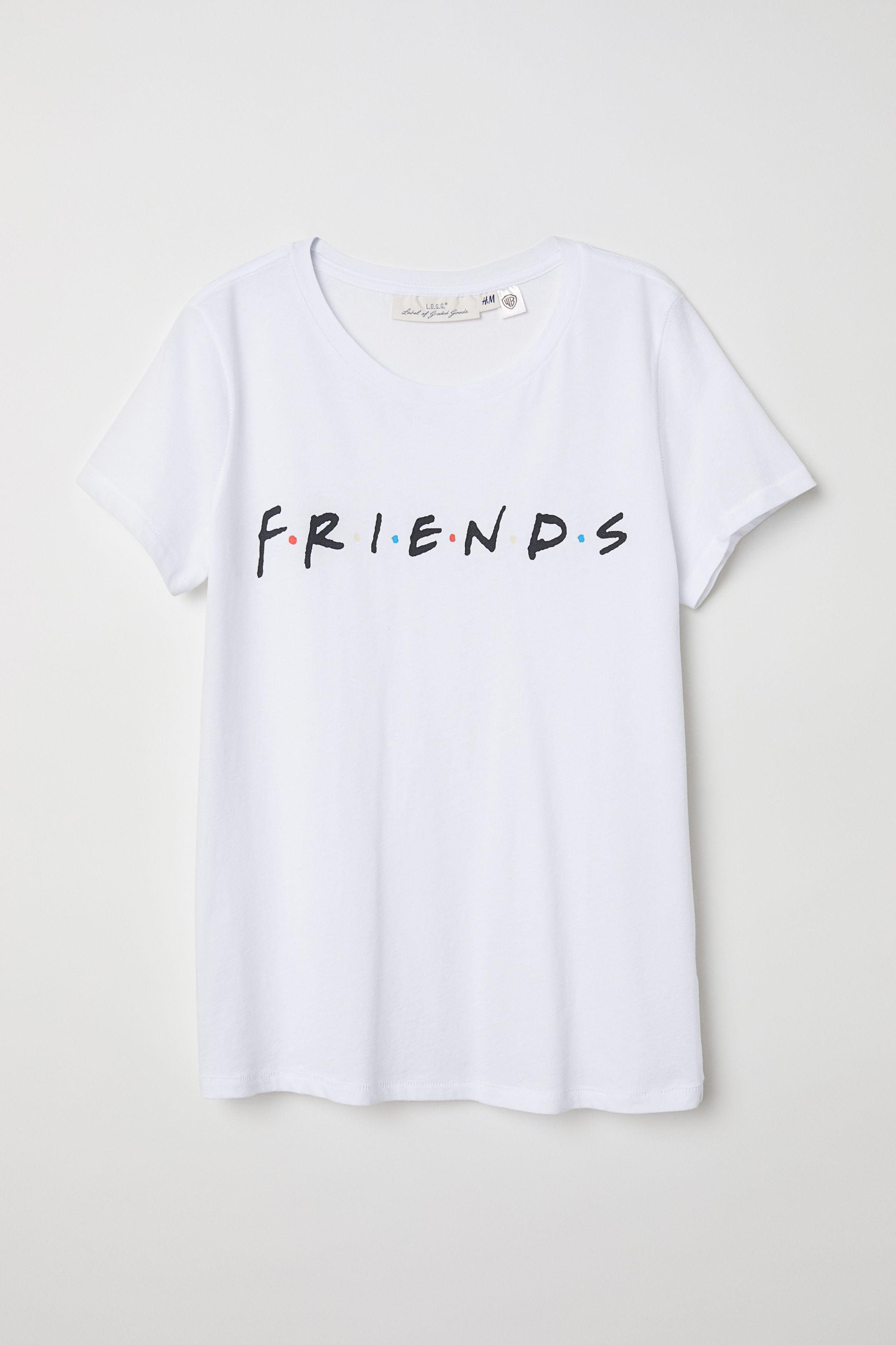 8bb1157e6 Printed T-shirt - White/F.r.i.e.n.d.s - Ladies | H&M GB