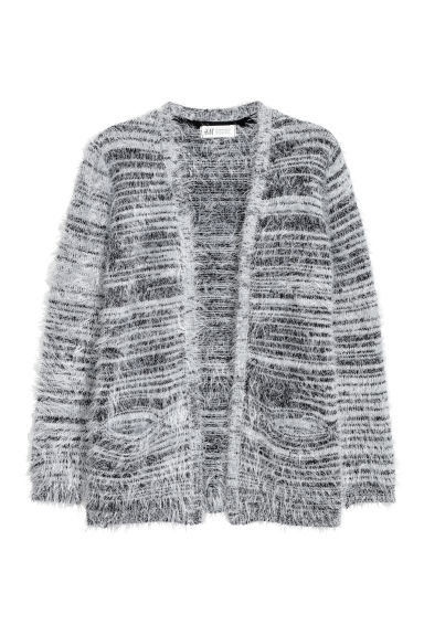 Fluffy cardigan - Grey/Black marl - Kids | H&M
