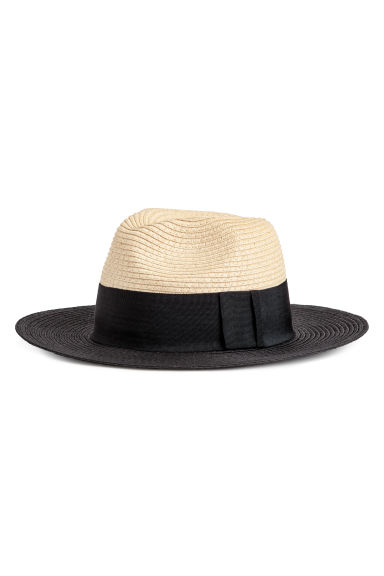 Straw Hat - Natural/black - Ladies | H&M US