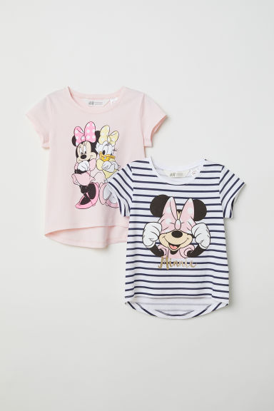 2-pack T-shirts - Light pink/Disney - Kids | H&M