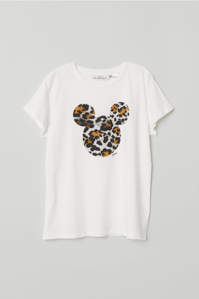 5409f76a T-shirt with Motif - White/Mickey Mouse - | H&M ...