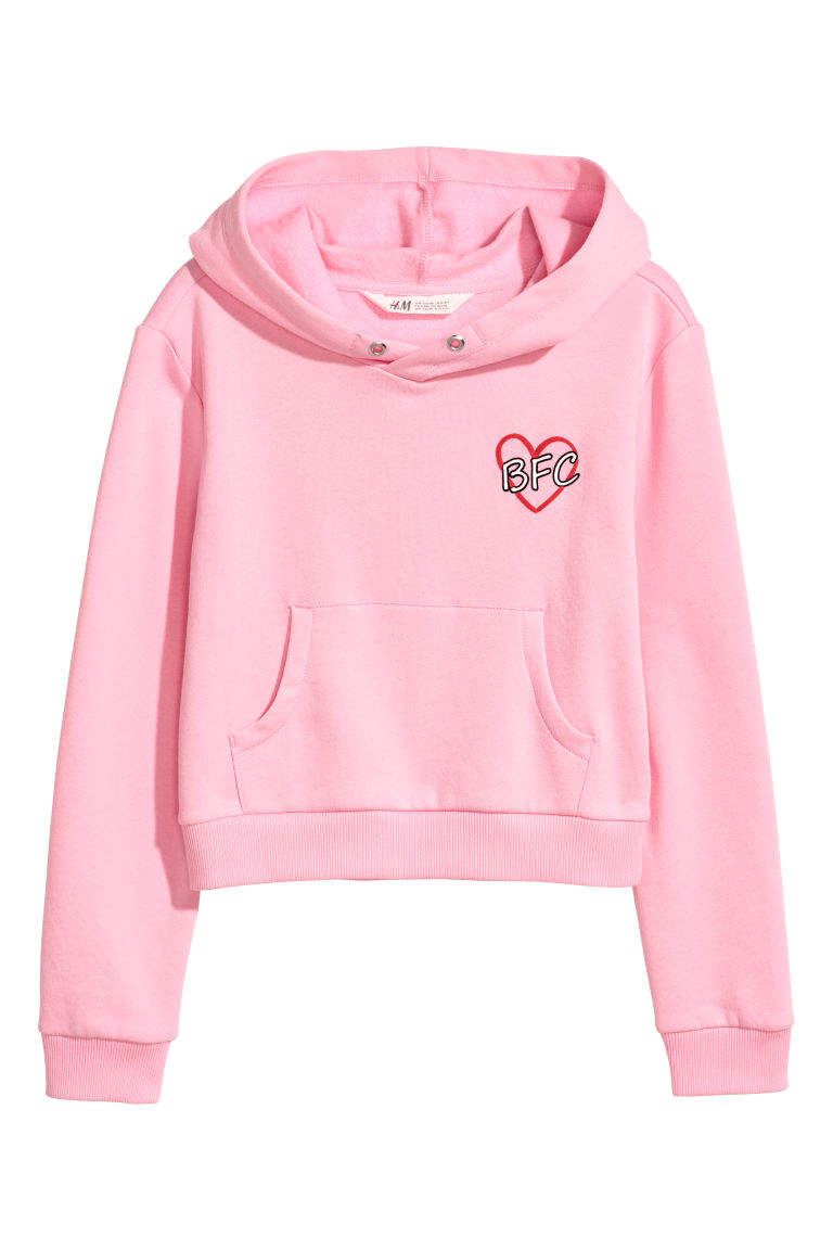 Short hooded top - Pink -  | H&M