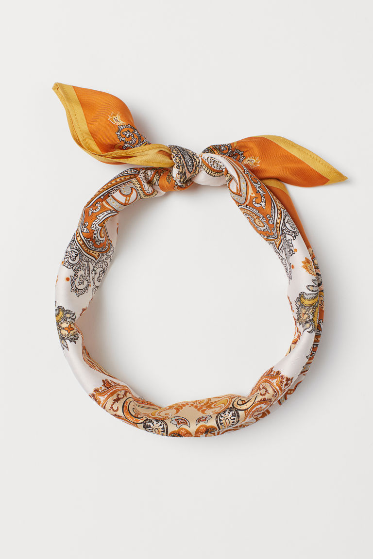Patterned scarf - Rust/Paisley-patterned - Ladies | H&M