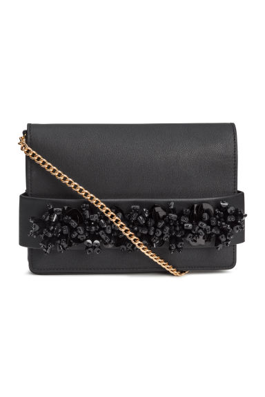 Beaded clutch bag - Black - Ladies | H&M IE