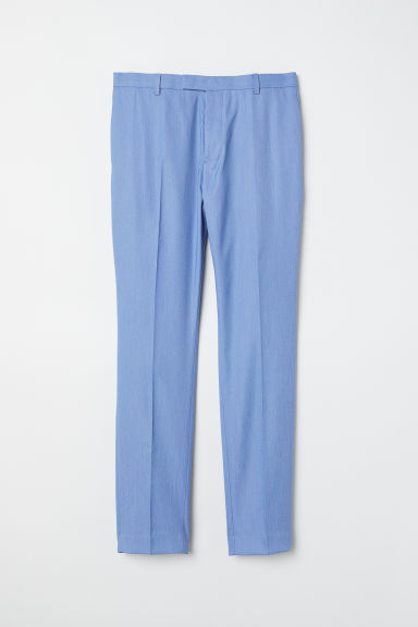 Suit trousers Skinny fit - Light blue marl - Men | H&M CN