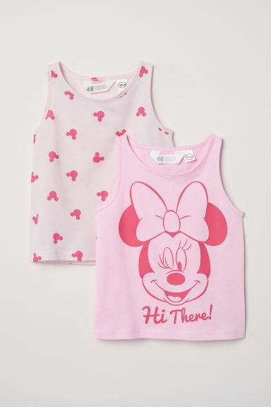 2-pack vest tops - Pink/Minnie Mouse - Kids | H&M