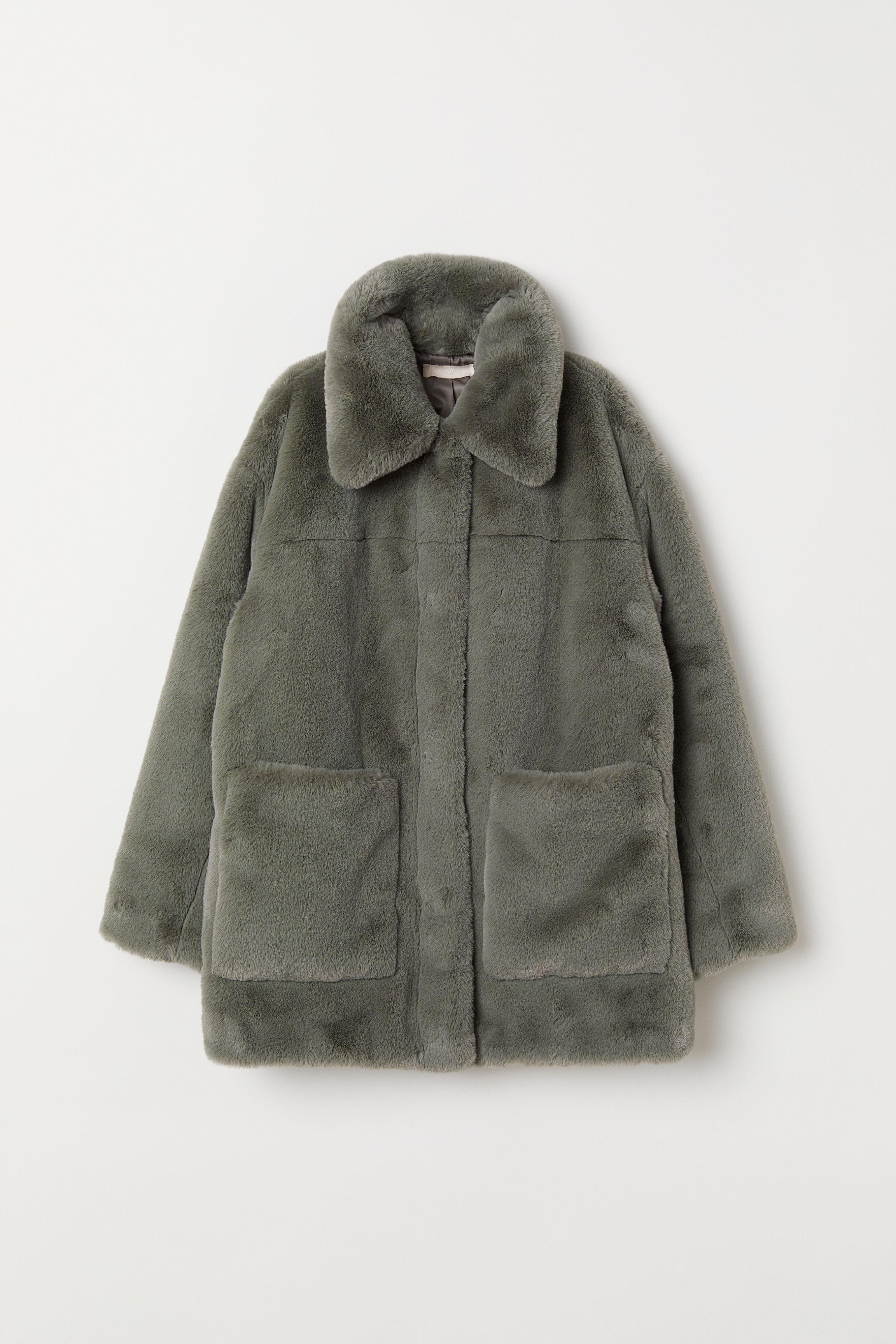 6737e6b5c281 Faux Fur Jacket - Beige - Ladies