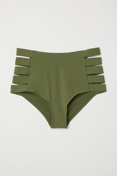 H&M+ Bikini bottoms High Waist - Khaki green - Ladies | H&M CN