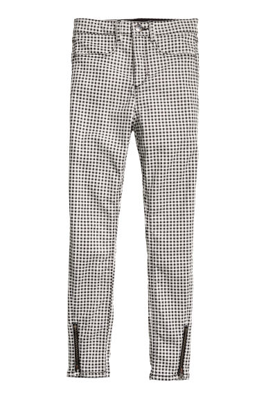 Superstretch trousers - Black/White checked - Kids | H&M