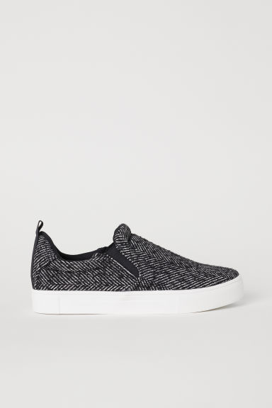 Slip-on trainers - Black/Patterned - Ladies | H&M