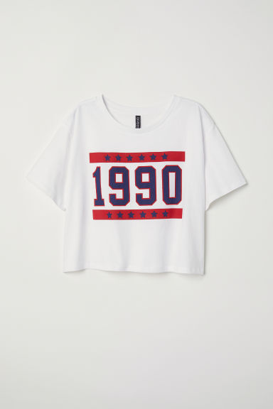 Crop top - Wit/1990 - DAMES | H&M BE