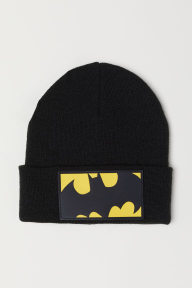 Fine-knit hat - Black/Batman - Kids | H&M CN
