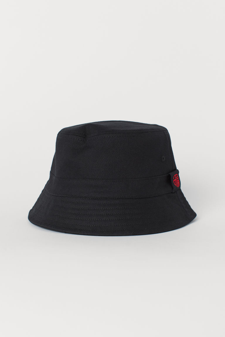Cotton twill fisherman's hat - Black -  | H&M