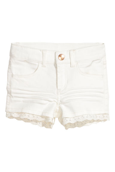 Shorts in twill con pizzo - Bianco - BAMBINO | H&M IT