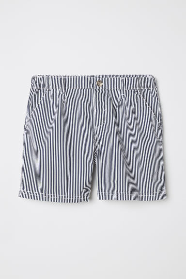 Cotton shorts - Blue/White striped - Kids | H&M CN