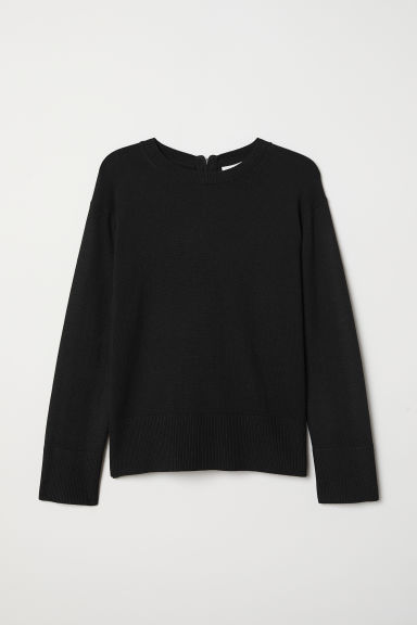 Knitted jumper - Black - Ladies | H&M CN