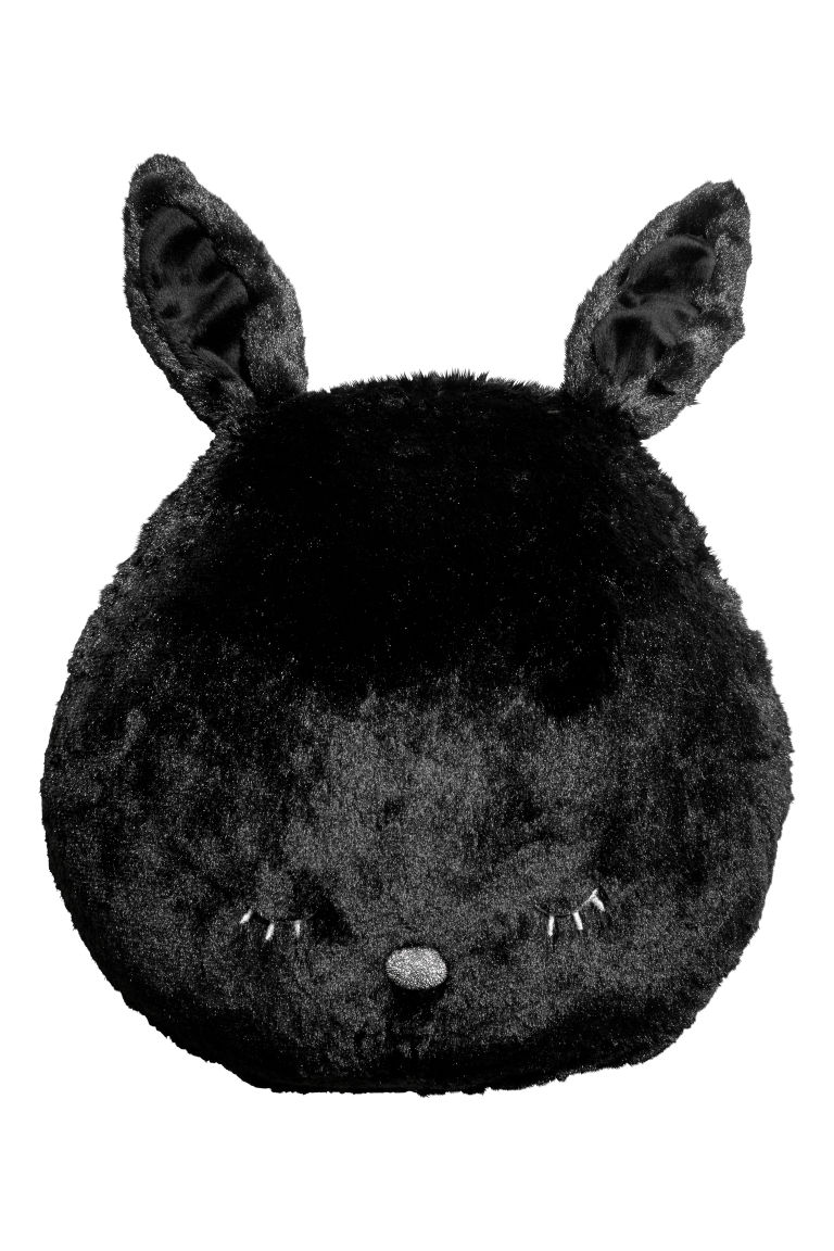 Coussin peluche - Noir/lapin - Home All | H&M FR