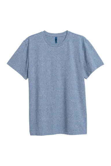 Round-necked T-shirt - Blue marl -  | H&M
