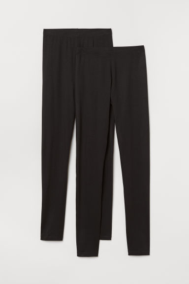 2-pack jersey leggings - Black - Ladies | H&M