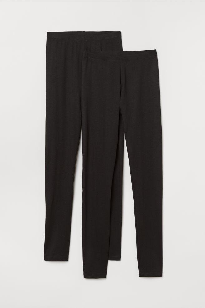 aa7e8937995a9 ... 2-pack Jersey Leggings - Black - Ladies   H&M ...