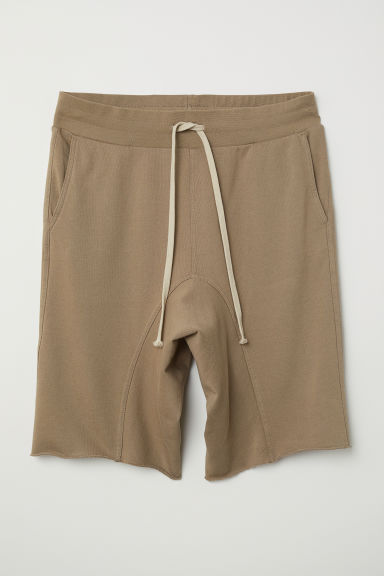 Low-crotch sweatshirt shorts - Mole - Men | H&M