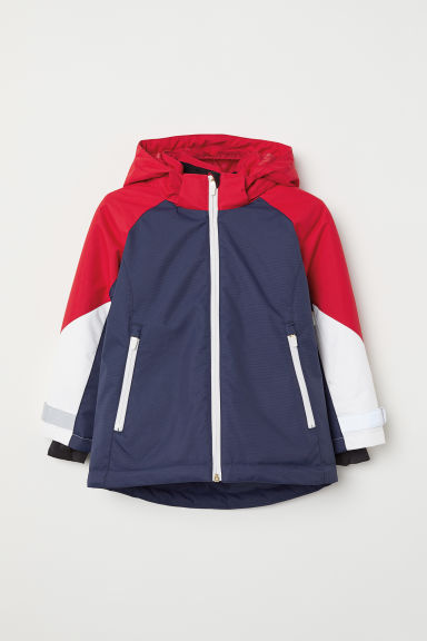 Ski jacket - Dark blue/Red - Kids | H&M