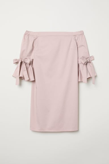 Off-the-shoulder dress - Powder pink - Ladies | H&M