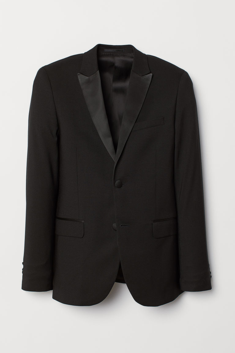 Veste de smoking Skinny fit - Noir - HOMME | H&M BE