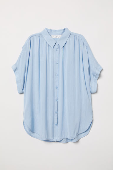 Wide blouse - Light blue - Ladies | H&M CN