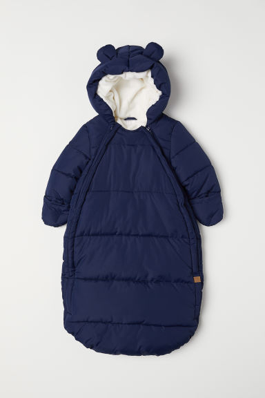 Padded footmuff - Dark blue - Kids | H&M CN
