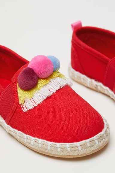 Espadrilles - Red/Pompoms - Kids | H&M