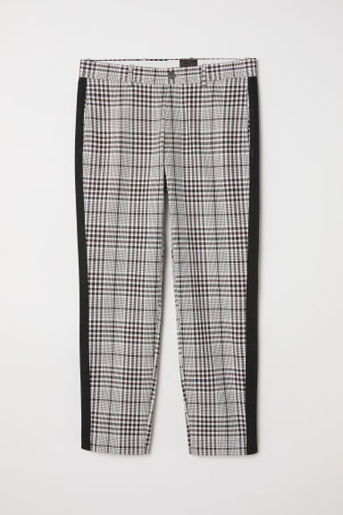Checked trousers - Beige/Black checked - Men | H&M