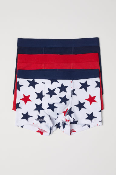 3-pack boxer shorts - Red/Stars - Kids | H&M