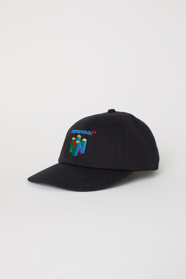 Cap with embroidery - Black/Nintendo 64 - Men | H&M CN