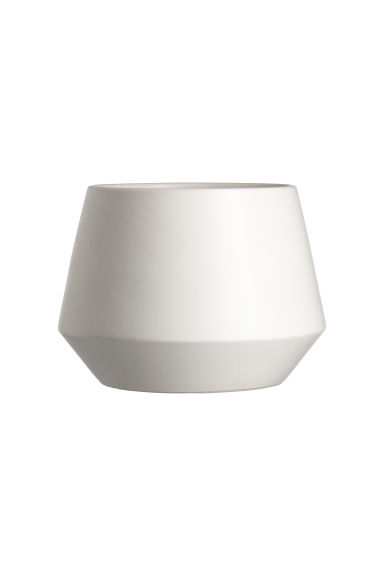 Stoneware plant pot - White - Home All | H&M CN