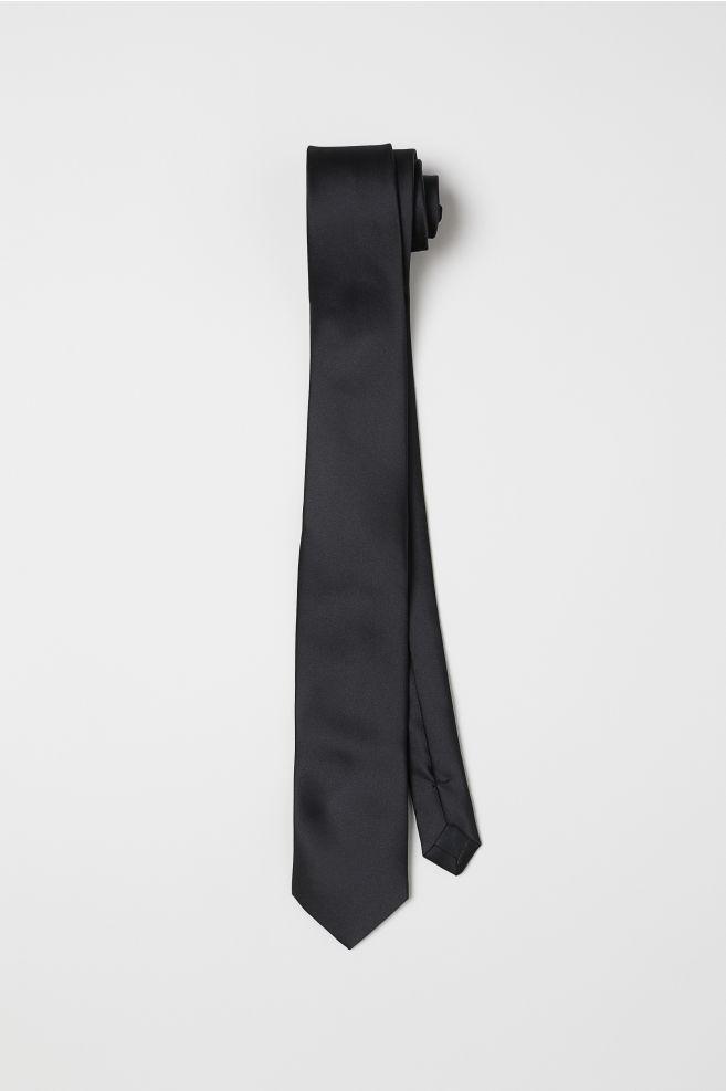 2db531c8b853 Satin Tie - Black - Men | H&M ...
