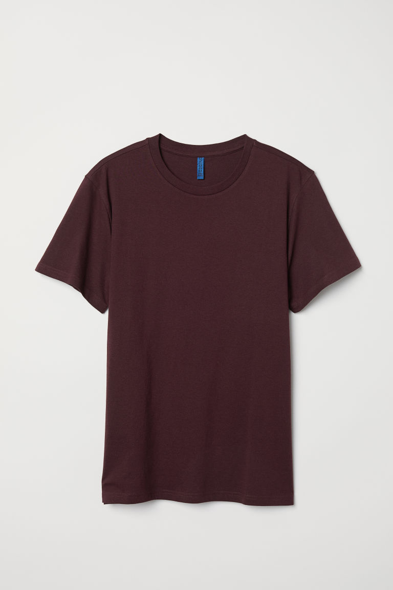 T-shirt - Burgundy - Men | H&M
