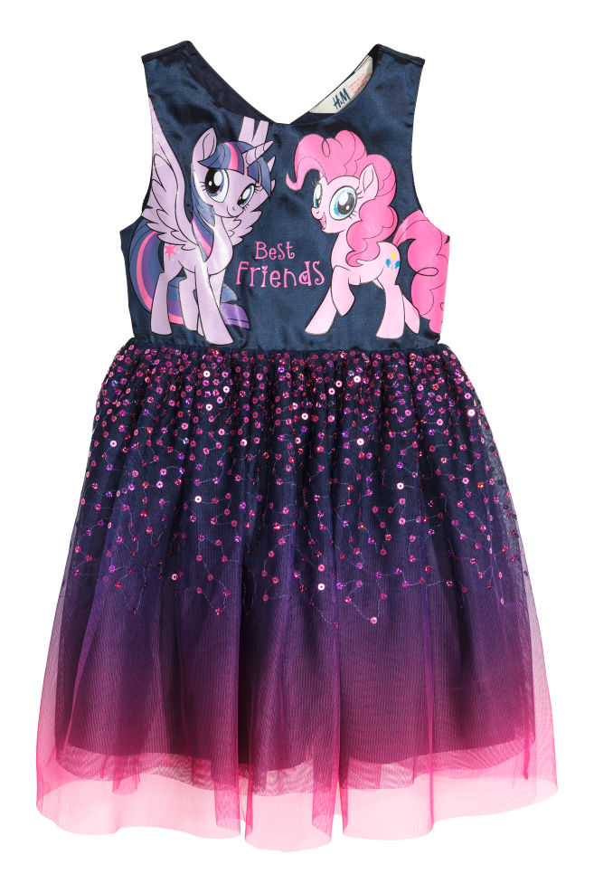e82a589e3 Sequined tulle dress - Purple/My Little Pony - Kids | H&M 1
