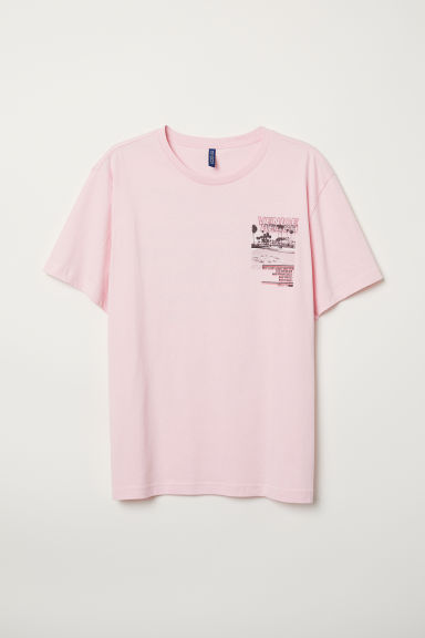 Printed T-shirt - Light pink/Venice Beach - Men | H&M