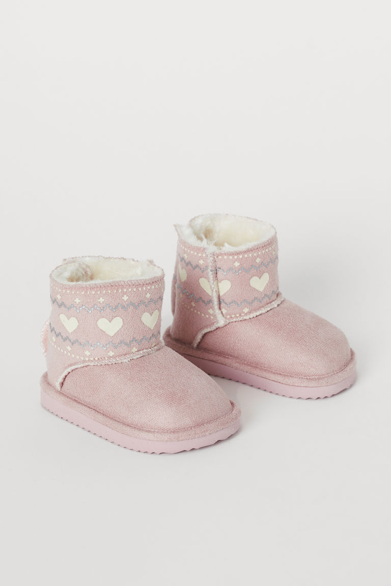 Warm-lined Boots - Pink/hearts - Kids | H&M US