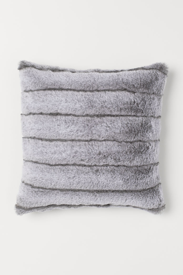 Faux Fur Cushion Cover - Gray - Home All | H&M US