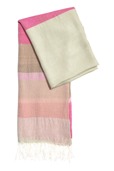 Block-patterned scarf - Dusky green/Pink - Ladies | H&M