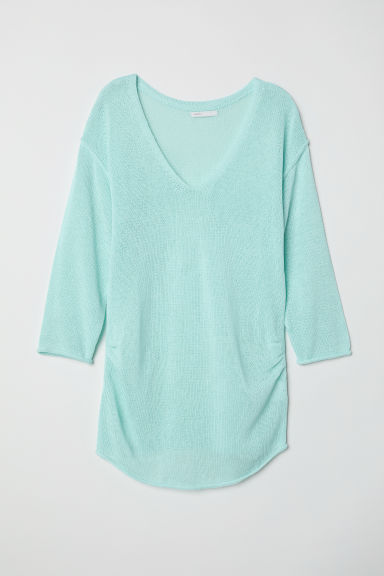 MAMA Knitted jumper - Light turquoise - Ladies | H&M CN